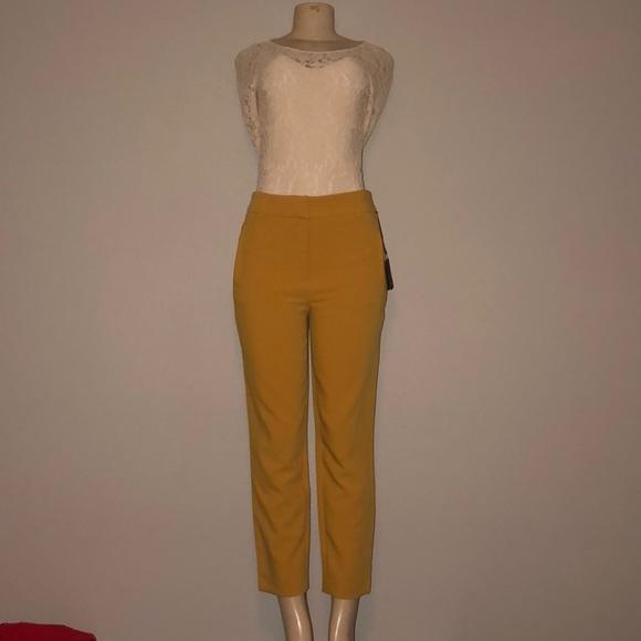 Dalia Pants - Woman's mustard color pant